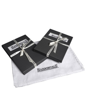 Platz-Set -Haddonfield- 2er-Set Canvas 45x35cm weiss