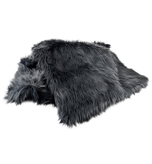 decke natural design luxus kunstfell 120x150cm schwarz 29 95. Black Bedroom Furniture Sets. Home Design Ideas