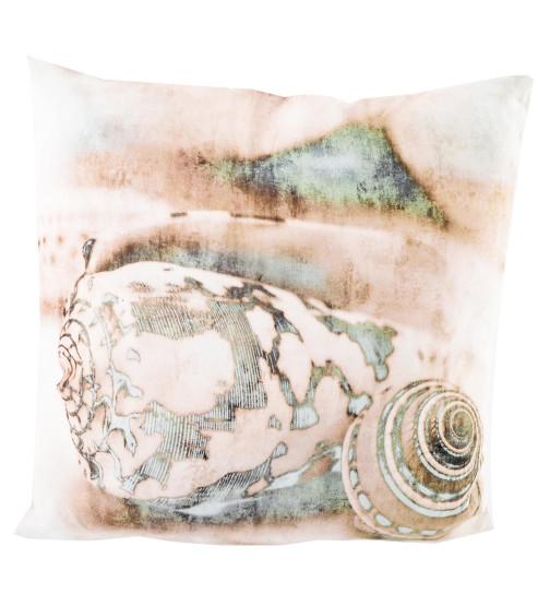 Kissen Maritim kissen maritim muschel design polyester 40x40x13cm creme mint 19 95