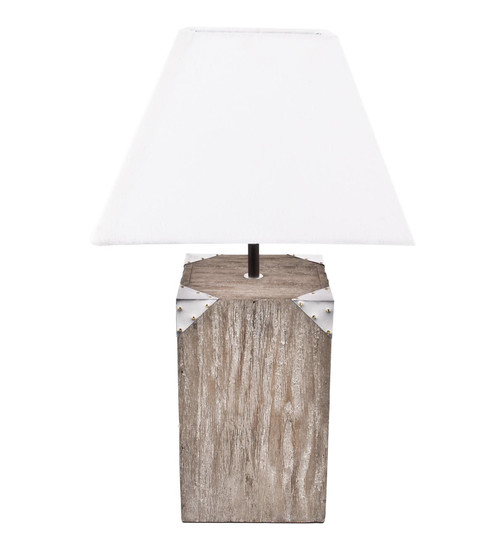 Stehlampe St.Maarten Deko-Design Holz 52x30x30cm schlamm-weiss