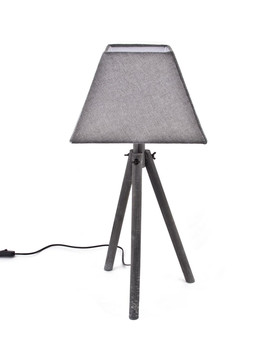 Lamp Curacao Deco-Design wood 64x30x30cm grey