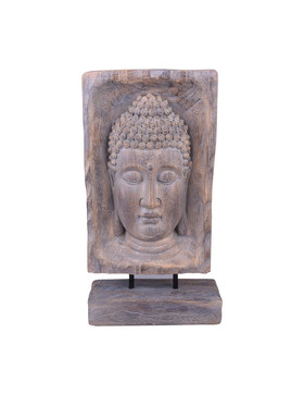 Buddha Deco-Object Stand polyresin 41x22x9cm brown