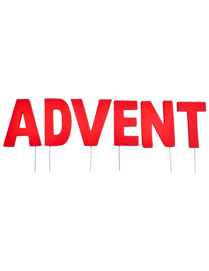 Deko buchstaben stecker advent holz 8 12cm rot 4 95 for Dekostecker weihnachten