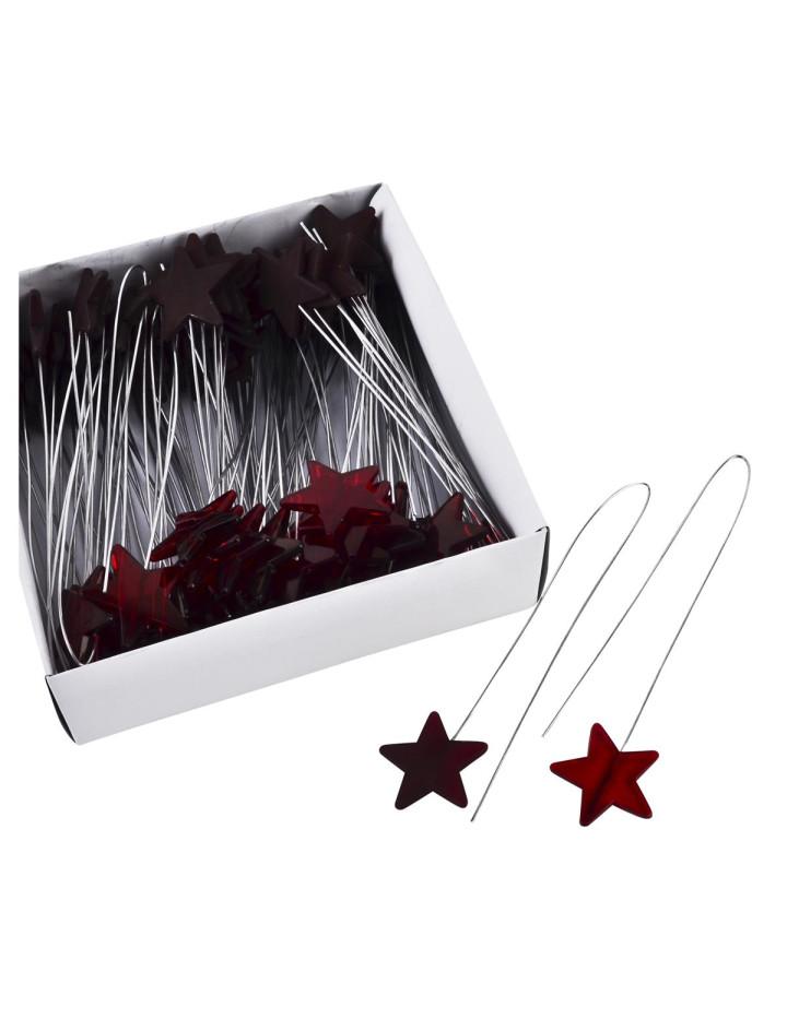 Stern deko stecker 72er set acryl 40x5cm rot 9 95 for Dekostecker weihnachten