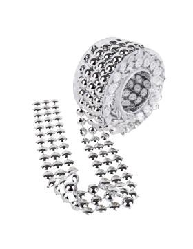 Deko Band Blüten Diamanten Design 3m grün 1,65 EUR//m