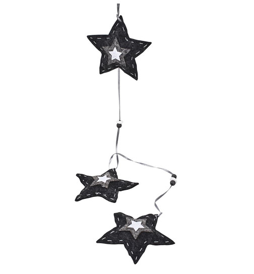 Stern 4er Set Xmas Deko Objekt Steinguss 17x17x2cm grau Weihnachten