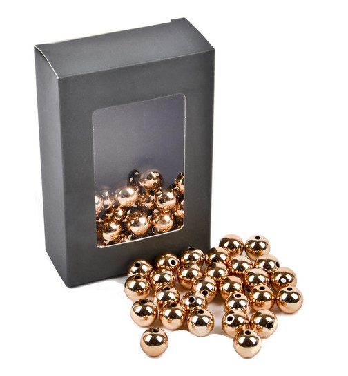 Perlen Deko 28er Set Kunststoff 15x15mm gold Basteln Kreativ Design