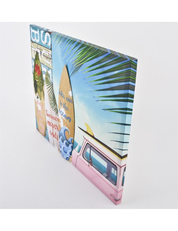 schickes plastisches wandbild mit 3d metall motiven auf einer leinwand 24 95. Black Bedroom Furniture Sets. Home Design Ideas